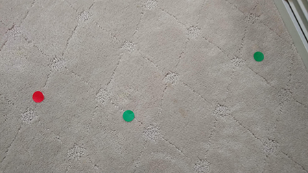 carpet stain remover used special carpet dye for this stain